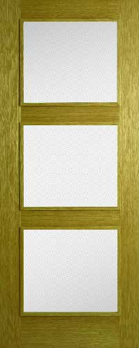 Oak 3 Panel – Clear Glass