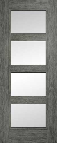 Daiken Shaker 4 Panel Grey – Clear Glass