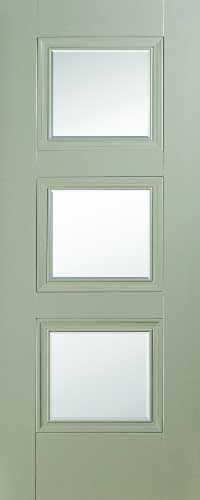 Vienna 3 Panel Silk Grey – Bevelled Glass
