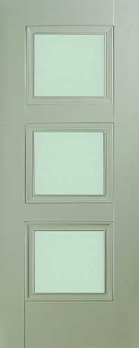 Vienna 3 Panel Silk Grey  – Opal Glass