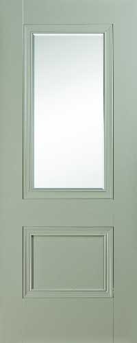 Salzburg 2 Panel Silk Grey – Bevelled Glass