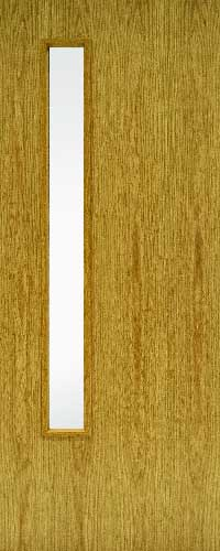 FD60 Oak Fire door -1 Glass ope -Clear Glass – GC06