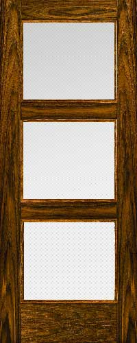 Proma Walnut 3 Panel Glazed 3203